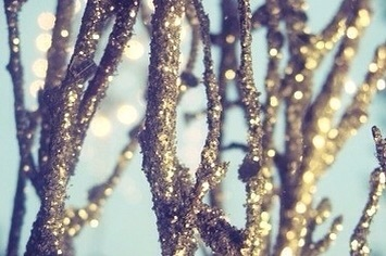 Image result for glitter twigs
