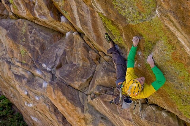 Bags are packed and I'm heading to Sweden for some sketchy technical head point trad climbing with @willstanhope Looking forward to some wild times 😜 All the tricky gear is packed from slider nuts to sky hooks to double ropes!  It's been while since I've dropped into the head point game, so this should be interesting! This image is from back in the day of the first ascent of Smart went Crazy 5.13+R/X. 📷 @dickeyphoto @lasportivana @thenorthface @bluewaterropes @metoliusclimbing