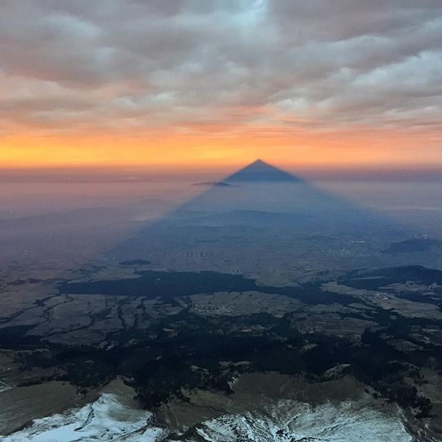 ❤️ 🌏 cherish everything.  The amazing shadow of Pico de Orizaba in Mexico.
