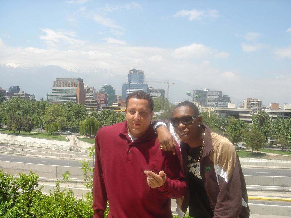 Semtex and Dizzee in Chile, 2005.