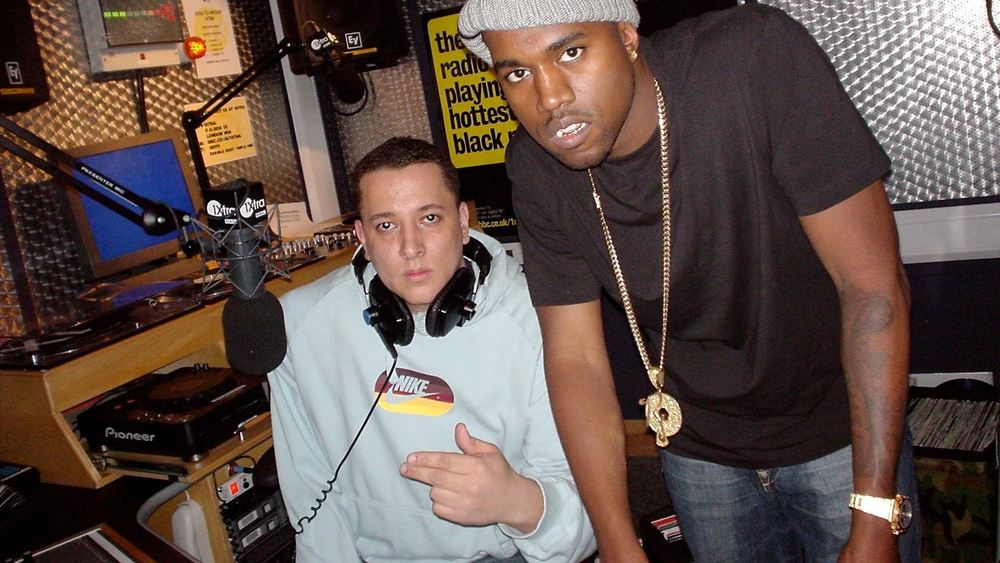 DJ Semtex and Kanye West in February 2004, days before the release of 'The College Dropout'.