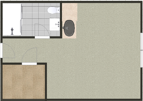 A typical apartment layout
