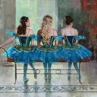 'Ballerina's Blue' 30x40 #oil #painting #fineart #ballerina #ballerinas #blue #tutu #dancers #beautiful #design figurative http://buff.ly/2c7LXlU