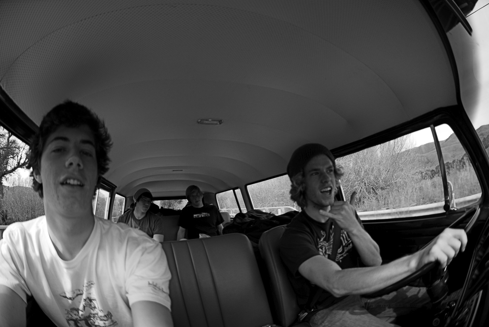 On another road trip Freshman year to go surf