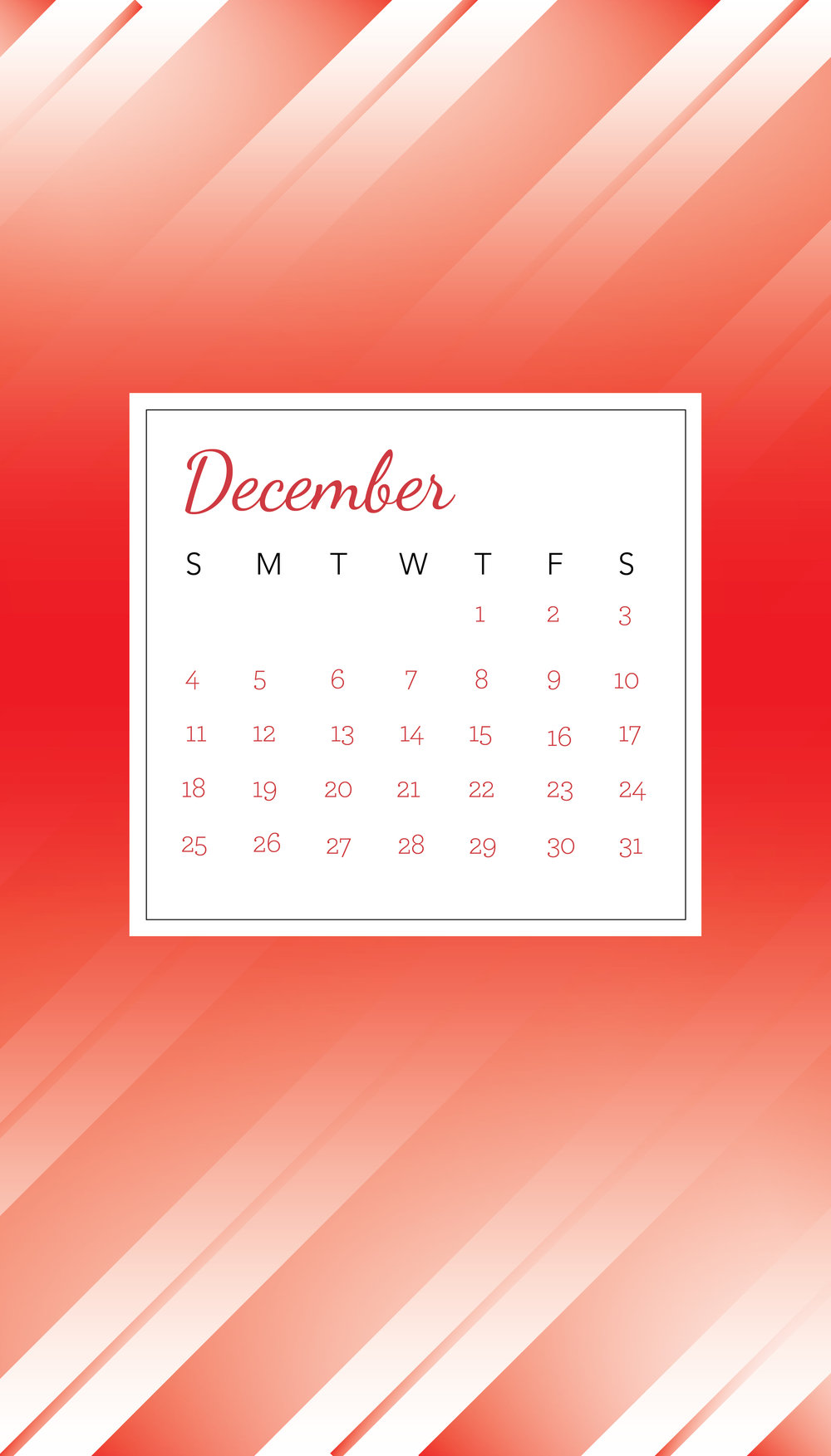 DECEMBER 2016 PHONE WALLPAPER DOWNLOAD