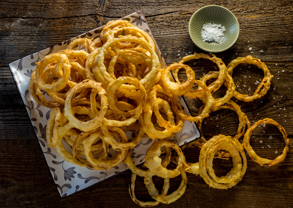 VinoBurger for iBooks, Washington Edition  :  Walla Walla Onion Rings