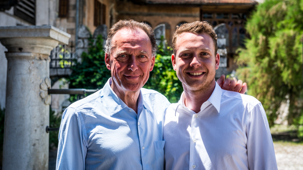 Italy : Alto Adige : Father & son winemakers Alois and Clemens Lageder