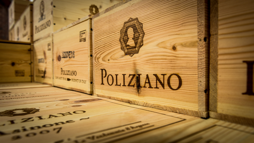 Italy : Tuscany : In the cellar at Poliziano in Montepulciano
