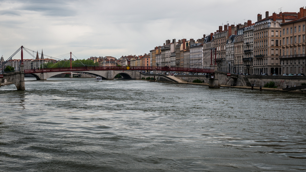 France : Lyon : Rhone River