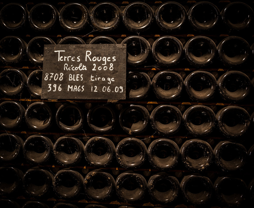 France : Champagne : 2008 Terres Rouges maturing in bottle at Jacquesson