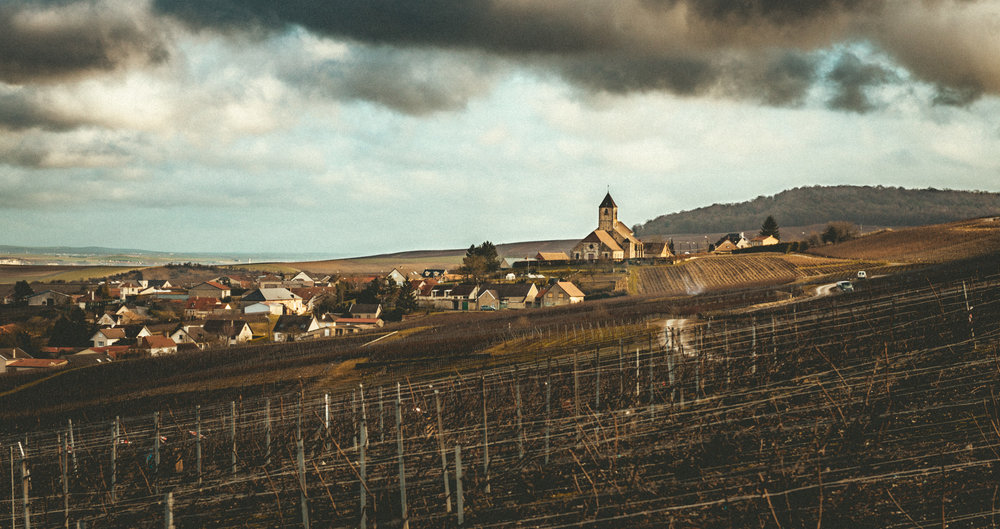 France : Champagne : Village of Cuis near Epernay