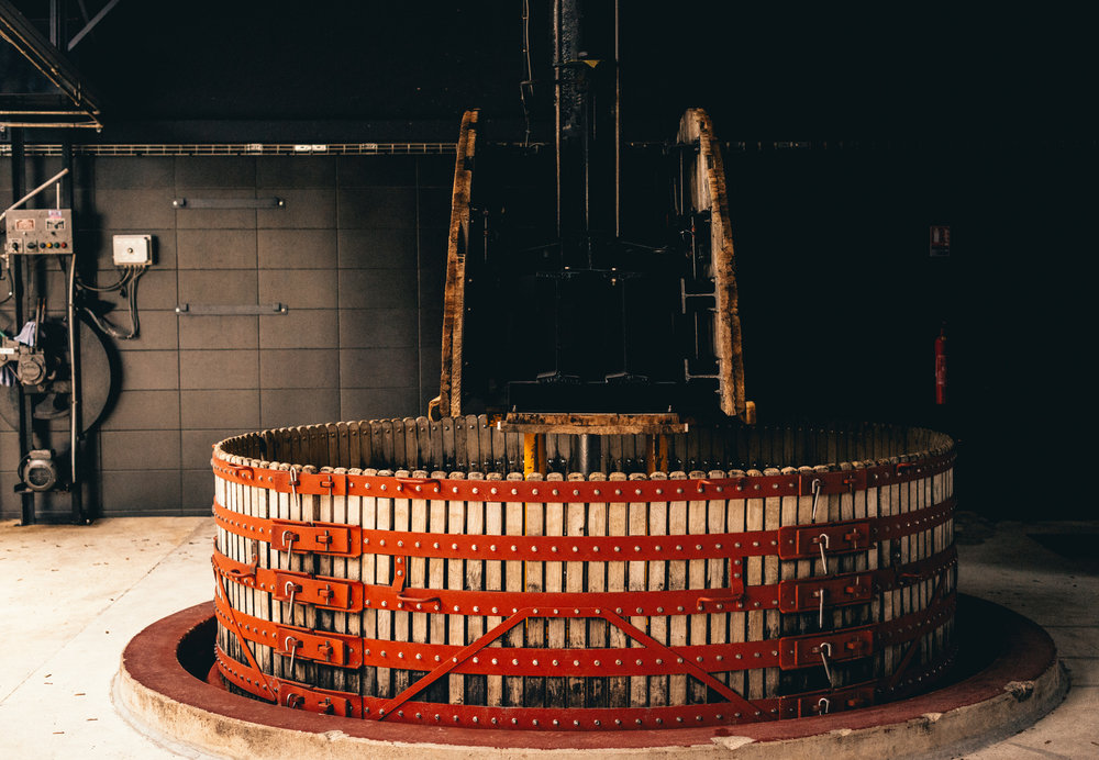 France : Champagne : A traditional press at Jacquesson