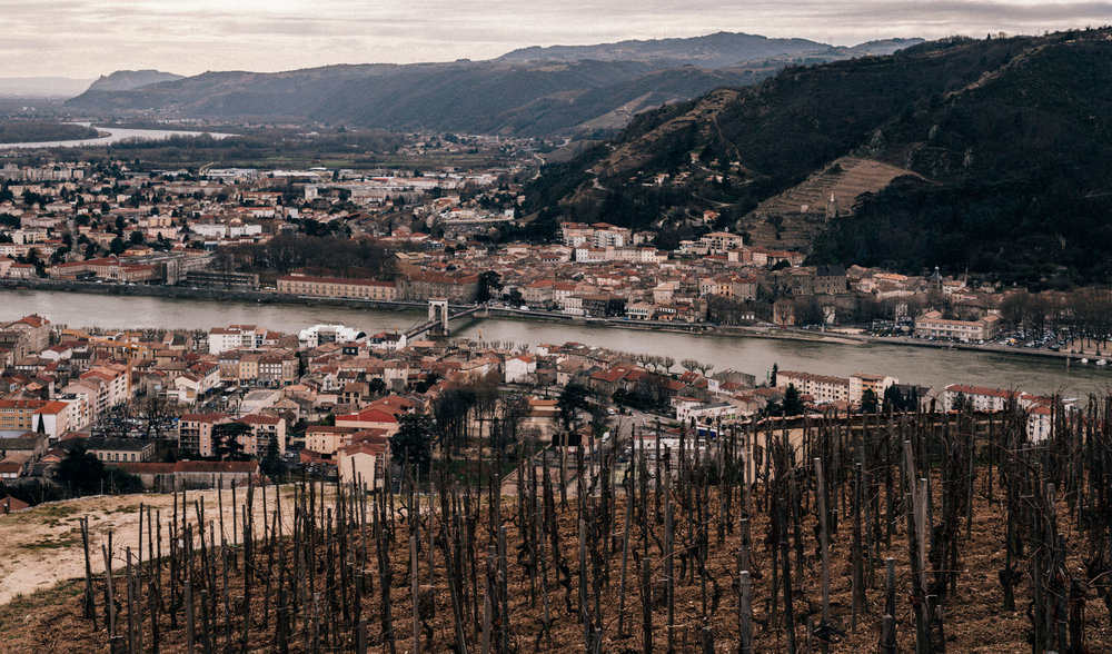 France : Northern Rhone : Tain l'Hermitage and Tournon-sur-Rhone