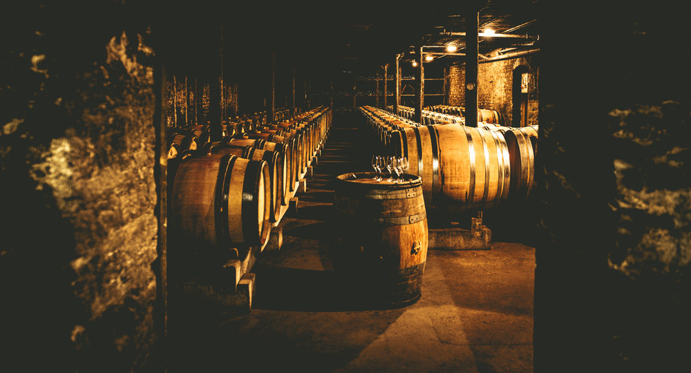 Burgundy : Cote de Beaune : Beaune : In the cellar at Philippe Pacalet