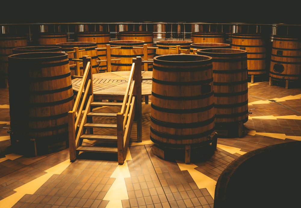 Burgundy : Cote de Beaune : Beaune : In the cellar at Louis Jadot