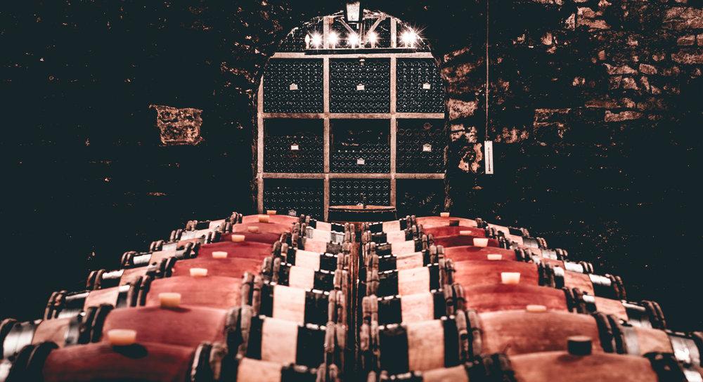 Burgundy : Cote de Beaune : Meursault : In the cellar at Jean-Michel Gaunoux