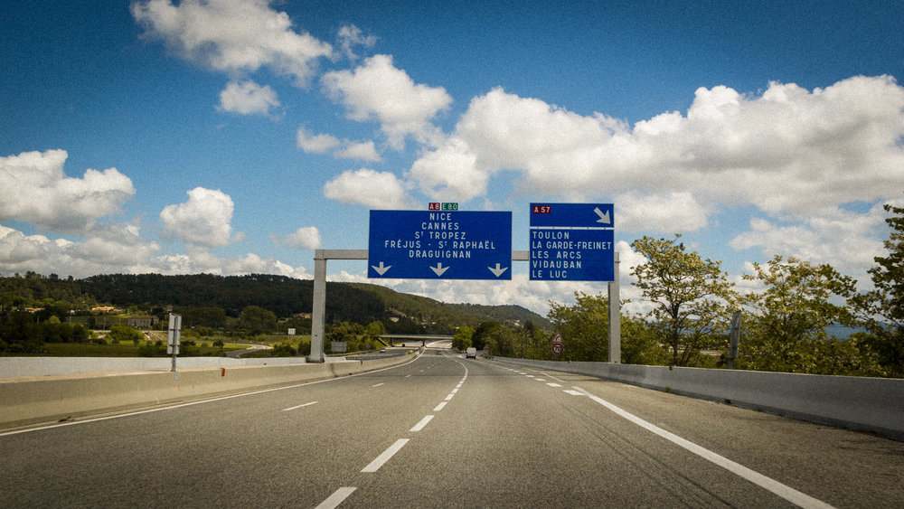 France : Provence : On the road to Nice