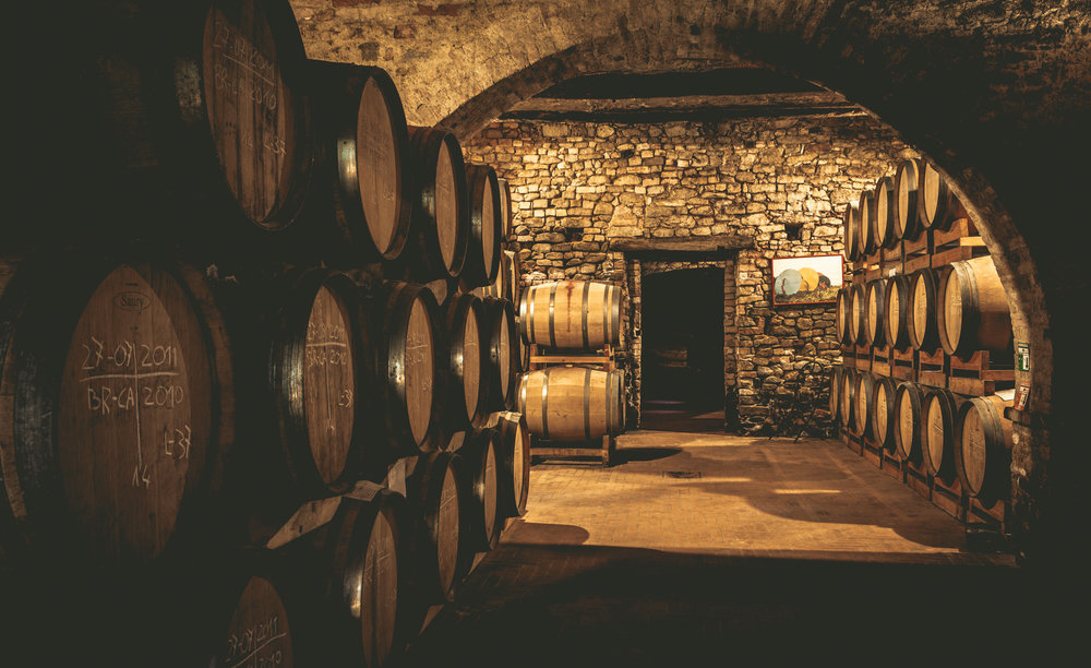 Italy : Piedmont : Barrels in the cellars at Vietti in Castiglione Falletto
