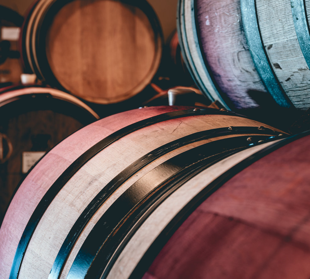 US : Oregon : Barrels at Bergstrom