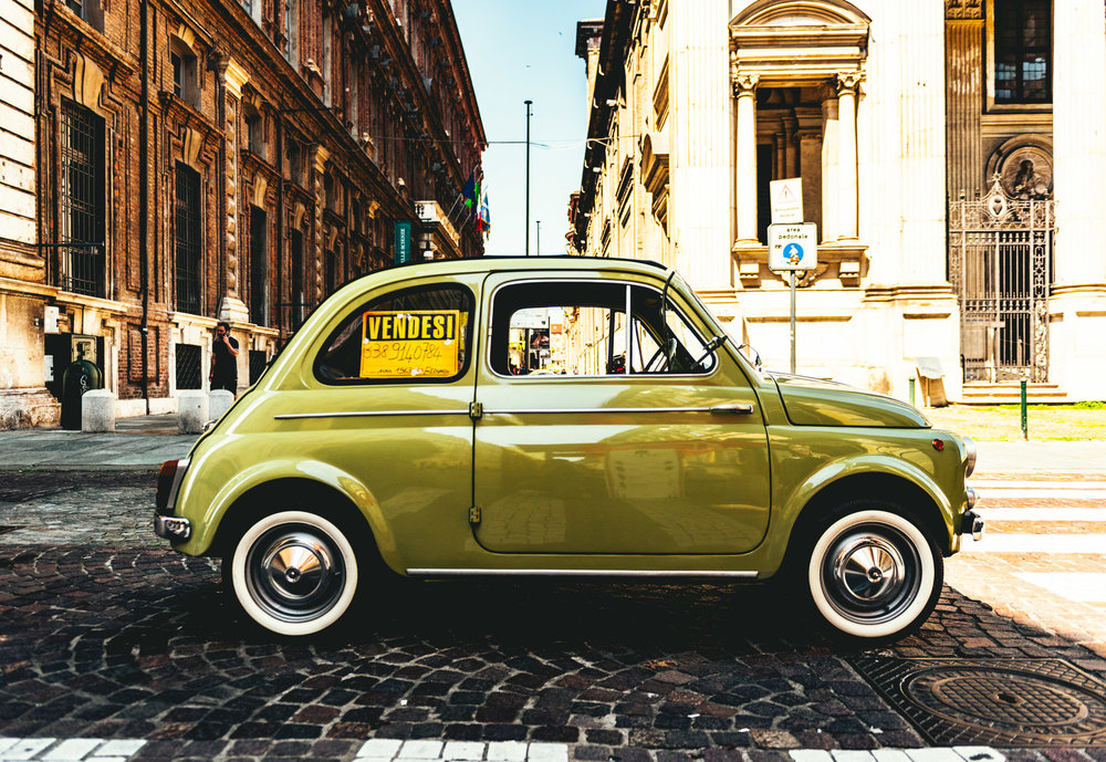 Italy : Turin : Cinquecento for sale