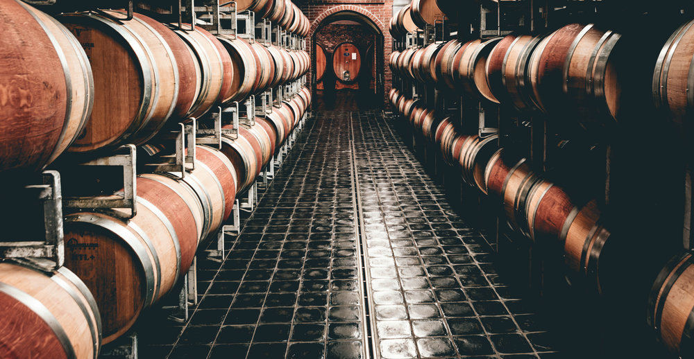 Italy : Piedmont : Gaja's immaculate cellars in Barbaresco