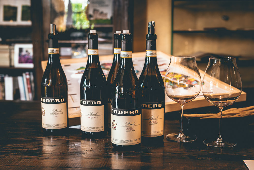 Italy : Piedmont : Tasting at Oddero's estate in La Morra