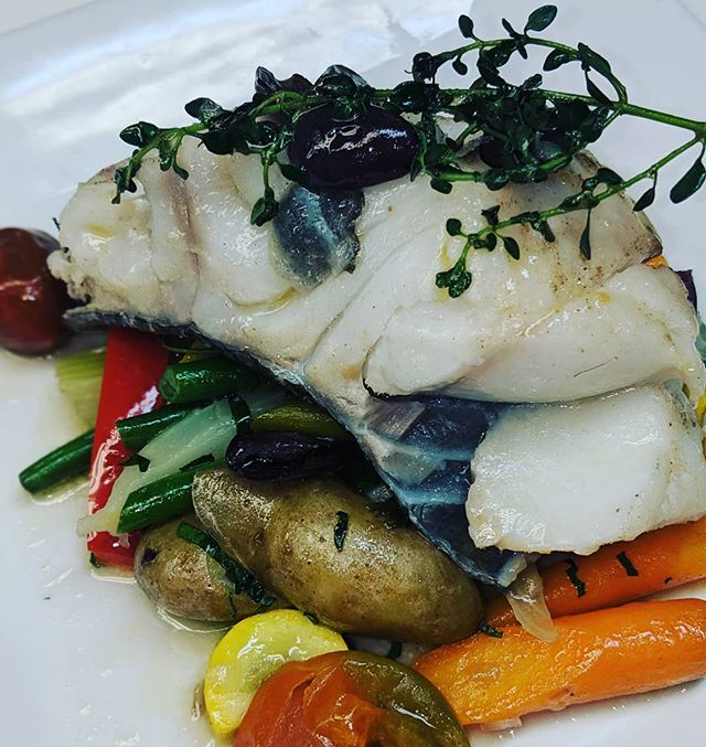 #special #codfish #springvegetables #manhattan #nyc #bistro #restaurantlife #followforfollowback
