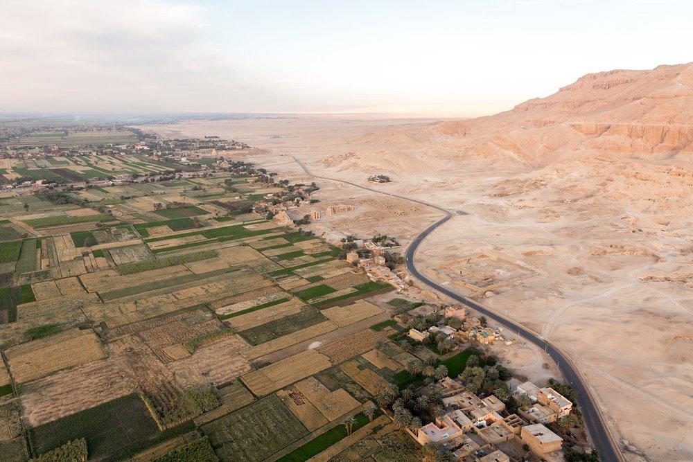 Hot air balloon ride over Luxor, Egypt