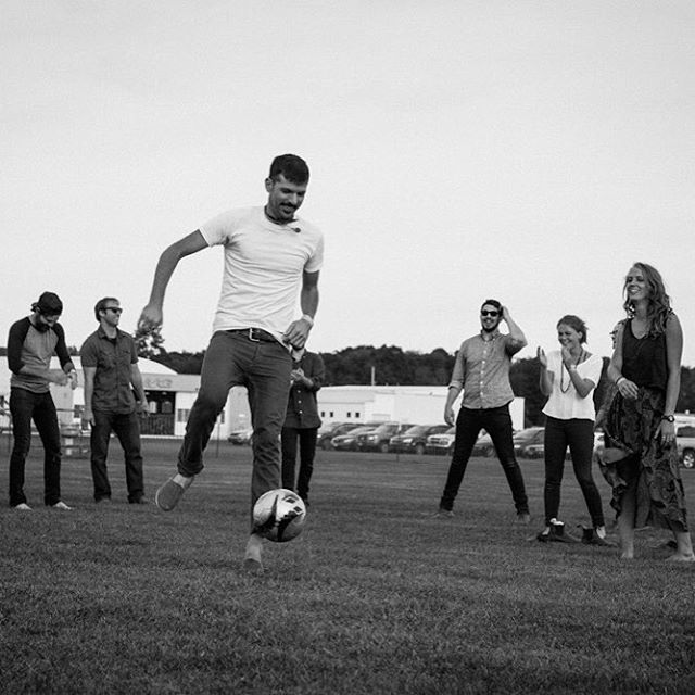 Backstage soccer with @theavettbrothers_ @elijahwolf @upstaterubdown. Check out our #SpeedofSoundFest Yearbook in Facebook! Photo by @lebonjane rachelbrennecke.com