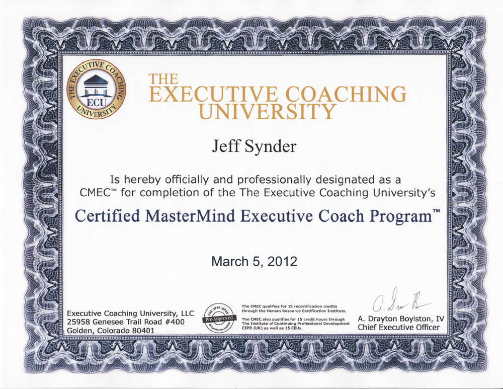 Jeff Snyder Coaching Resume Coaching Linkedin Coaching Career