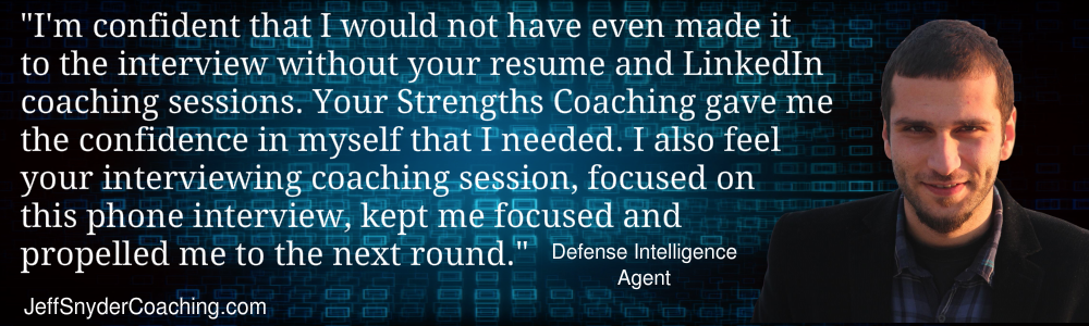 Career Transition Coaching Testimonial