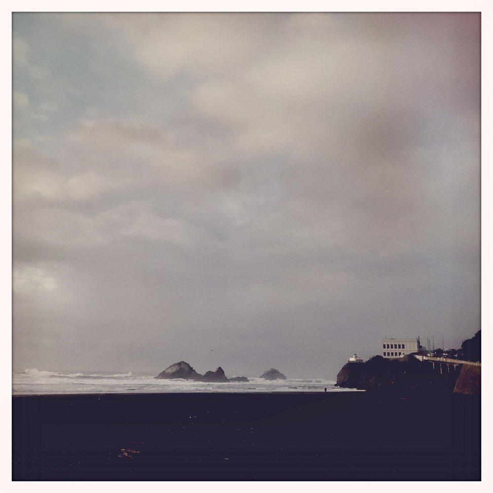 Rain on Ocean Beach