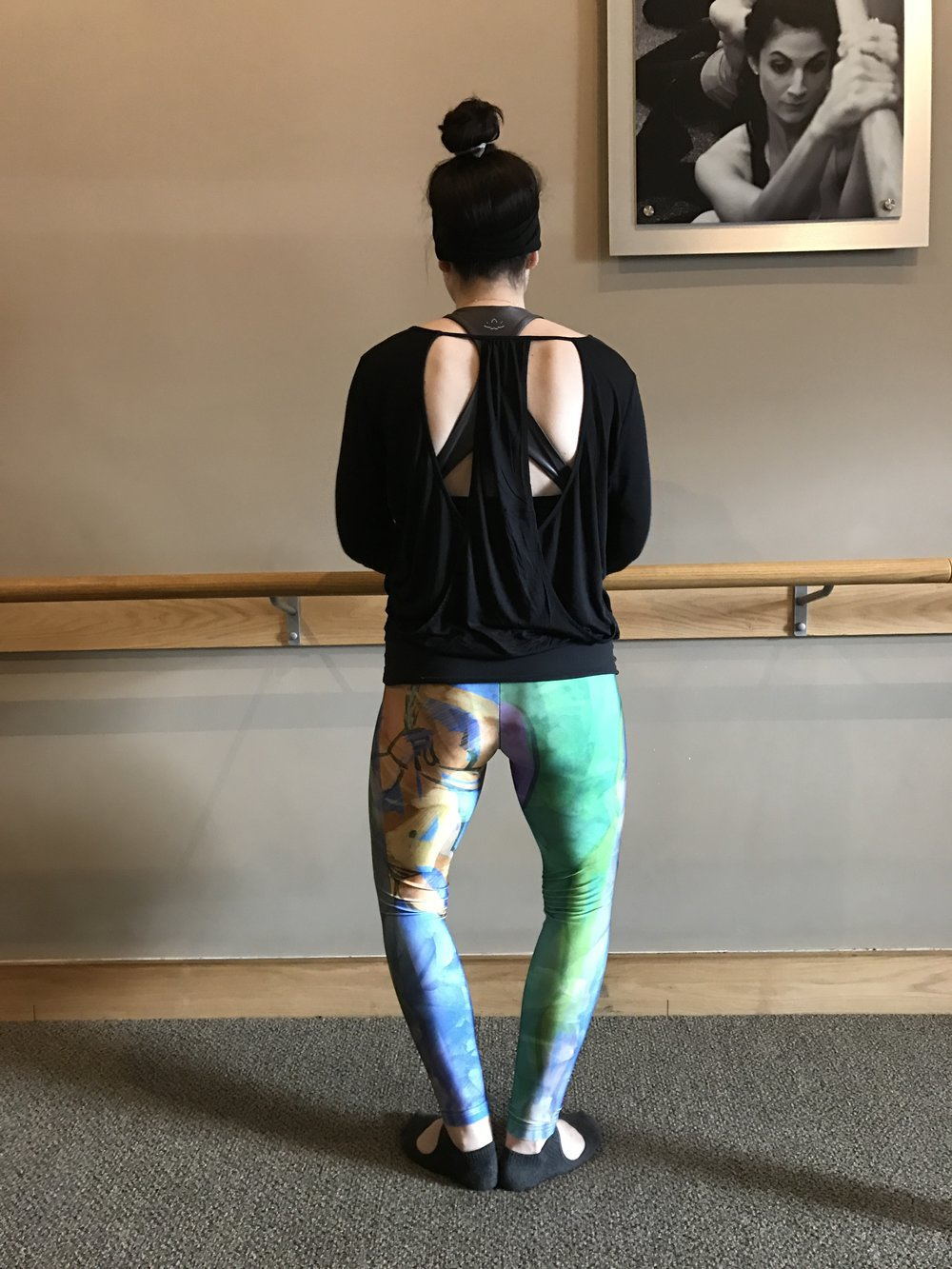 At the  Pure Barre  studio on West Portal, instructor  Kelly Leslie  wears my art leggings.