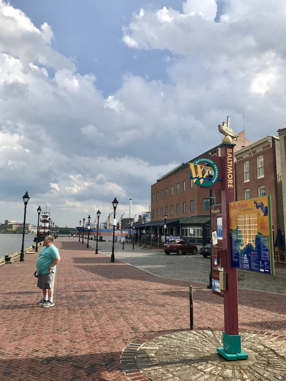 Sudden thunder, lightening, rain, and sun - fabulous weather! At Fells Point, Baltimore, MD.