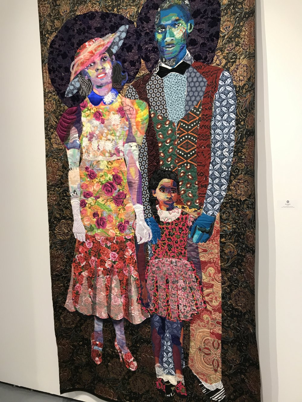 Personal story-telling combined with old world quilting taken to new heights.  Family  by Bisa Butler.
