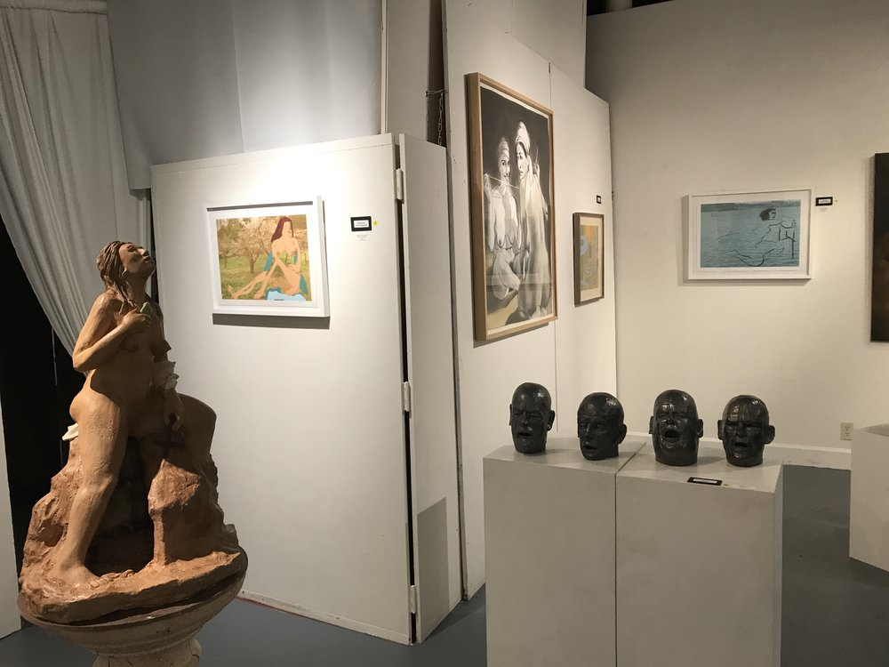 The show included sculpture and ceramics