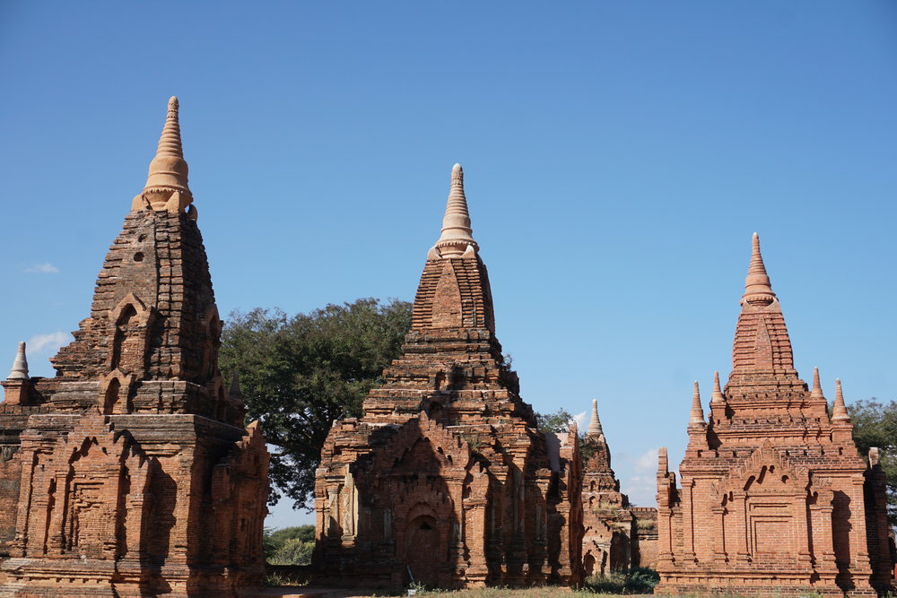 Bagan, Burma temple site.