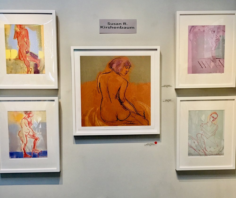 """Here's my wall at SFWA Open Studios 2018. The show of new work was titled """"Peeling Back the Layers""""."""