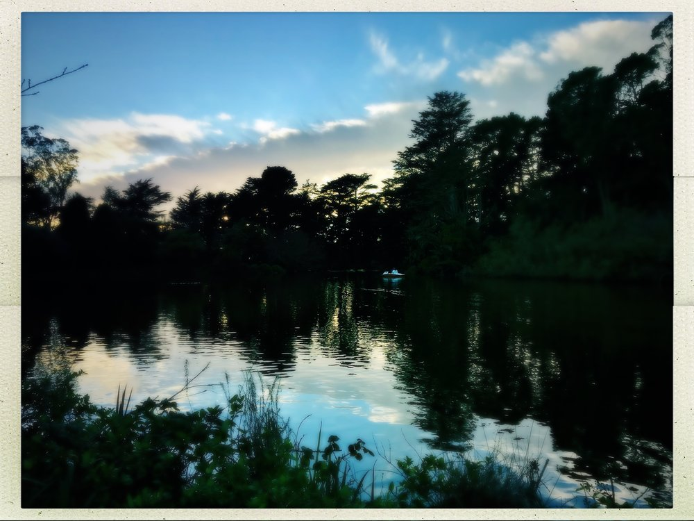 Stow Lake early evening reflections, Golden Gate Park (SF)