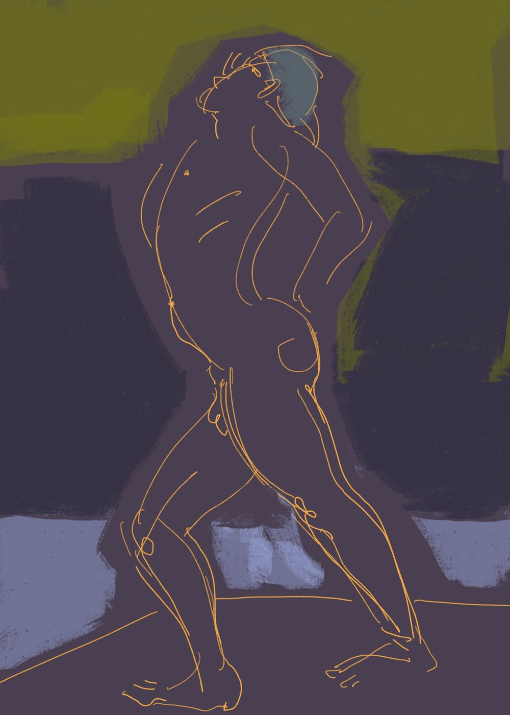 """""""Thrust Forward"""", digital drawing 2019"""