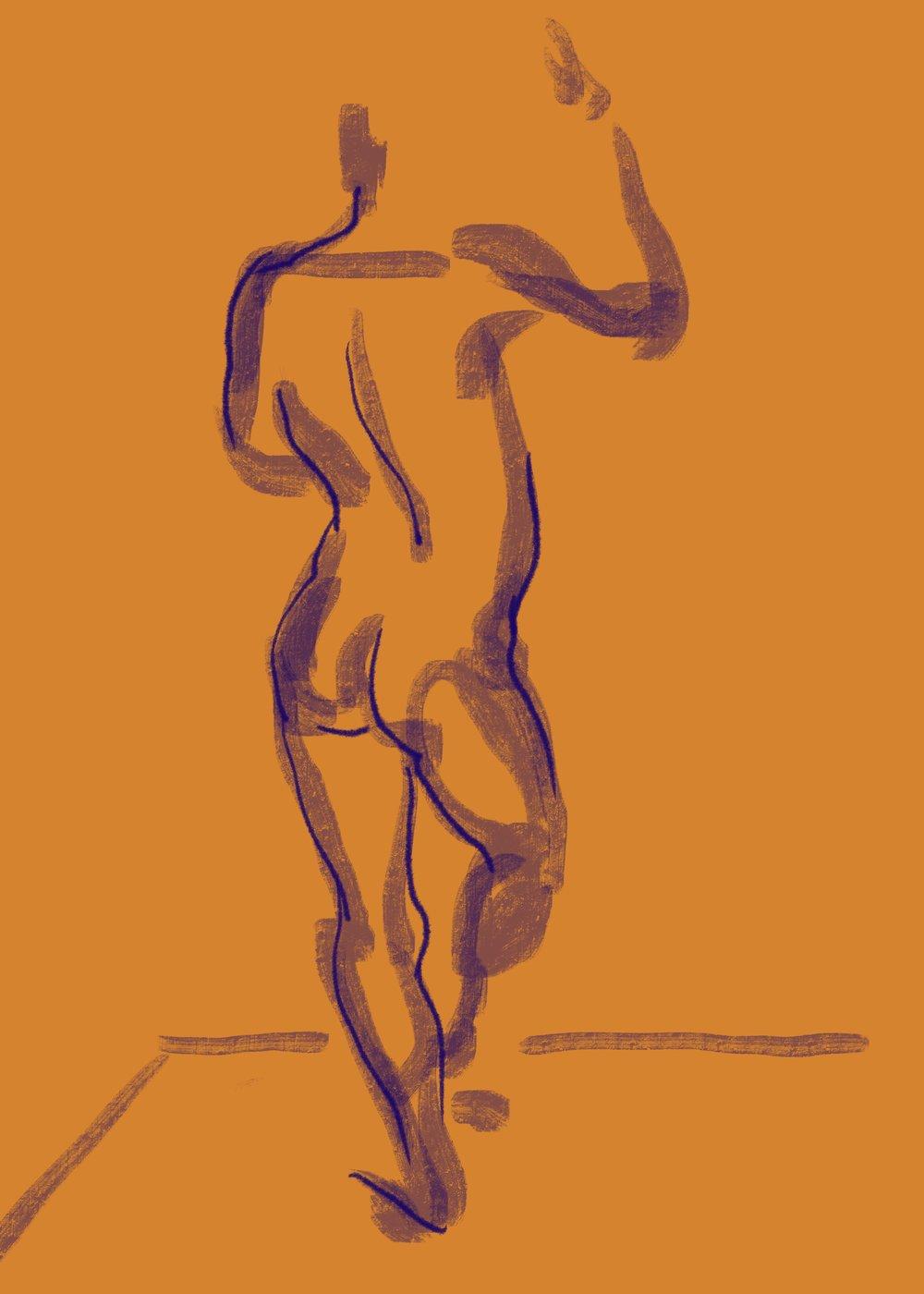 """Balance and Gesture"", digital drawing 2019"