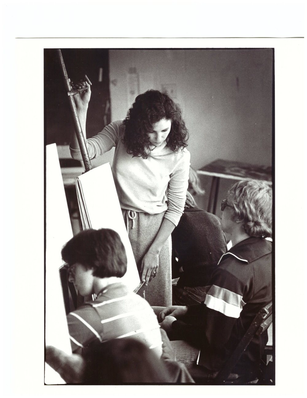 That's me teaching in 1978 at Ivy School of Professional Art.