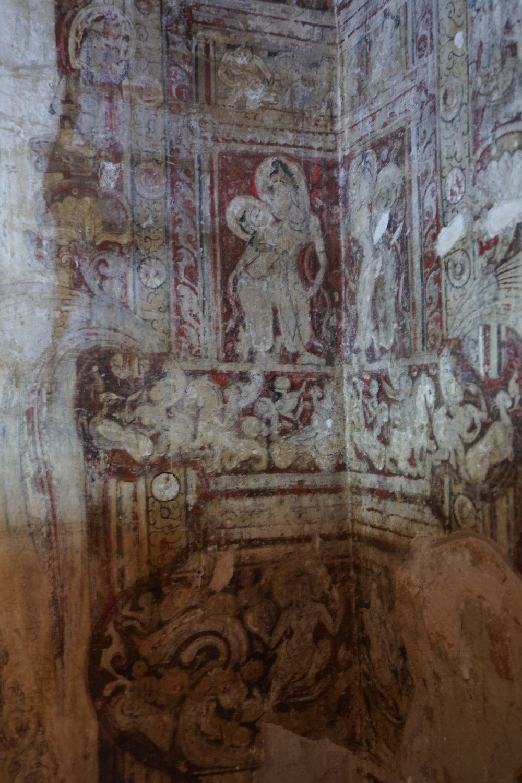 I photographed ancient temple walls in Bagan, Burma.