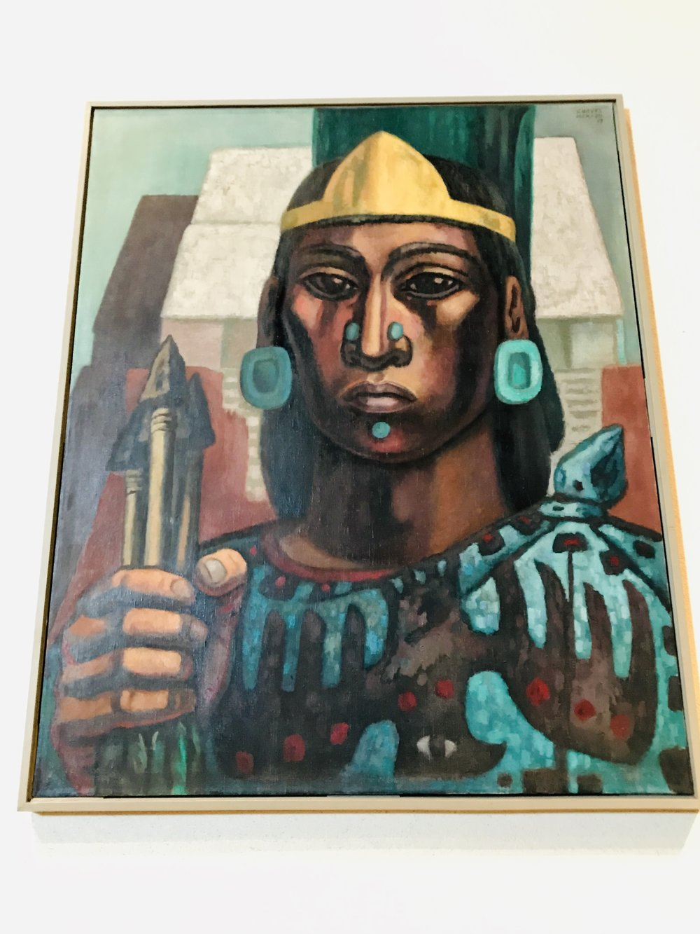 Here's a contemporary painting shown in the Museum of Anthropology in Mexico City.