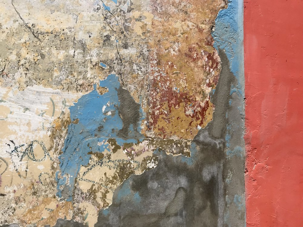 Old paint layers / wall