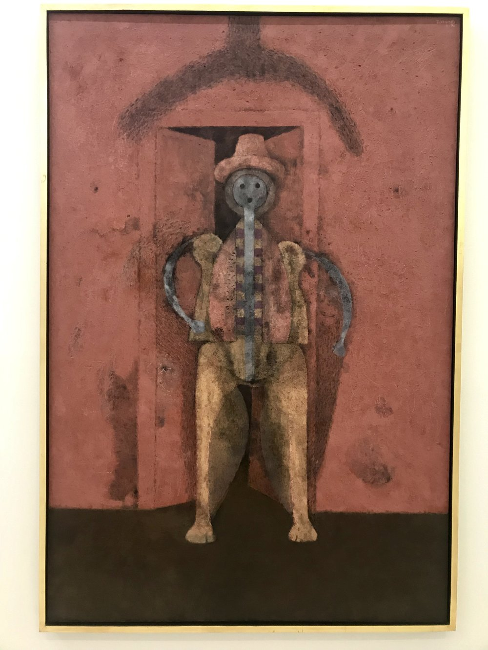 One of my favorite paintings by Oaxaco-born artist Rufino Tamayo. Seen in Museo Jumex.