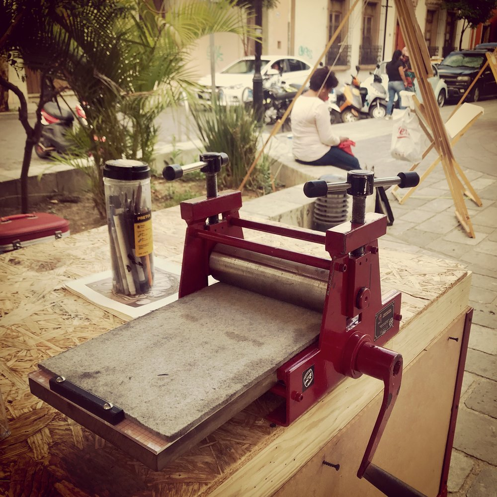 Little and big printing presses seemed to be everywhere in Oaxaca.