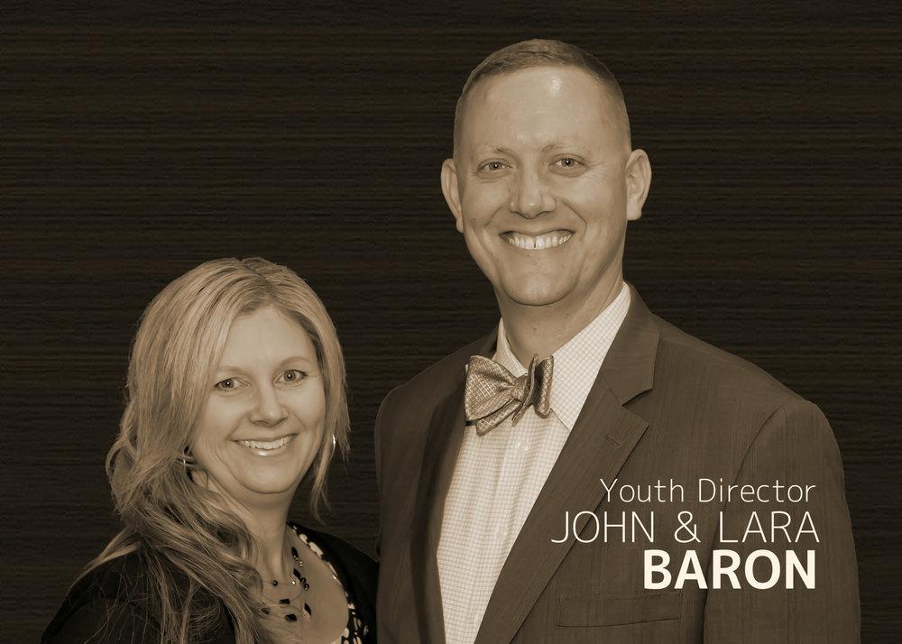 Youth Director  John & Lara Baron