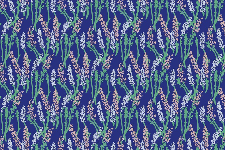 Lavender Field Print (for Spoonflower)