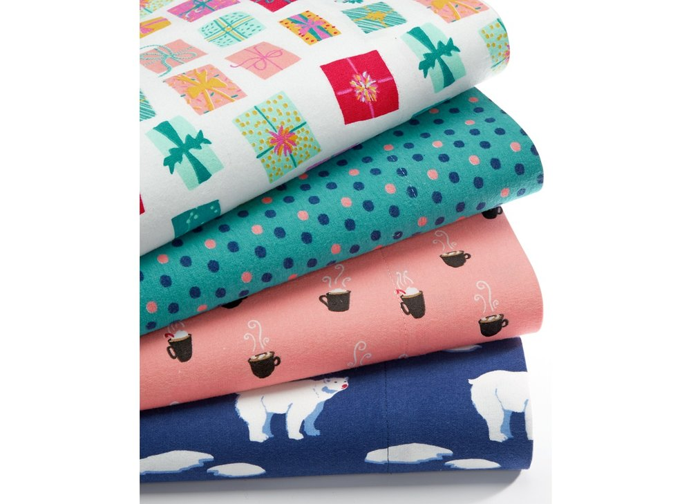 Printed Flannel Sheets (for Martha Stewart: Whim collection)